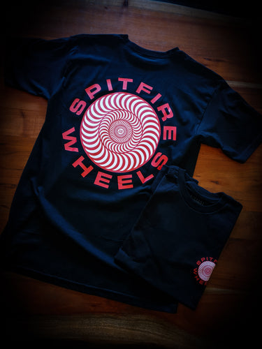 SPITFIRE - CLASSIC 87 SWIRL TEE - BLACK/RED