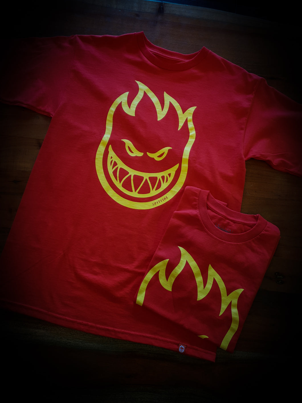 SPITFIRE - BIGHEAD TEE - RED/YELLOW