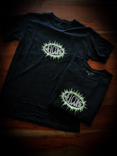 Load image into Gallery viewer, WELCOME - BURST GARMENT-DYED BLACK - TEE