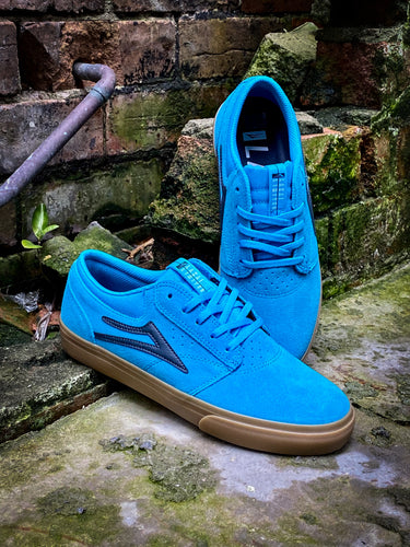 LAKAI - GRIFFIN SHOES - CYAN/GUM SUEDE