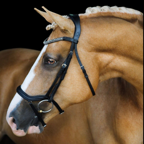 'Mila' Italian leather bridle - Lumiere Equestrian