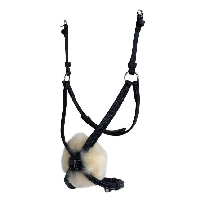 Grackle noseband - with sheepskin - Lumiere Equestrian