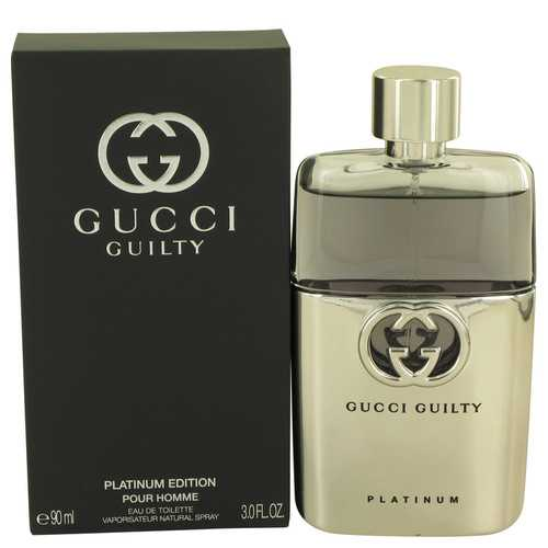 Gucci Guilty Platinum by Gucci Eau De Toilette Spray 3 oz (Men)