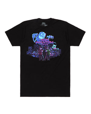 'Neon Phantom'' Tour T-Shirt - Black