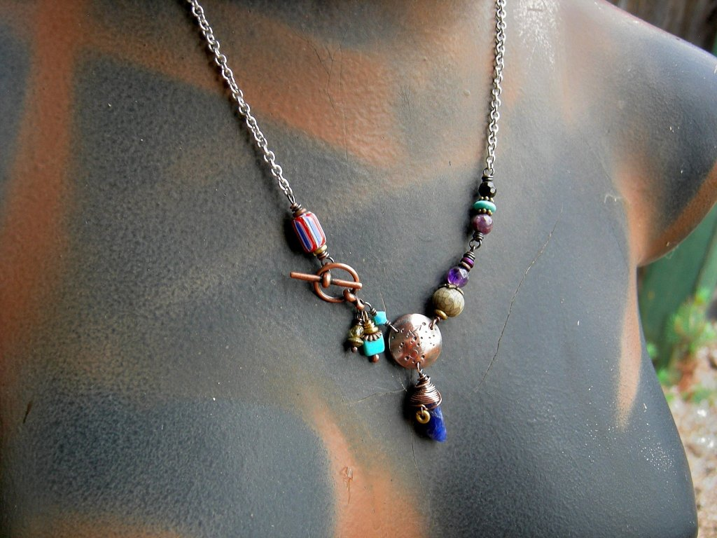 Sagittarius zodiac necklace, custom handmade birthstone jewelry, boho astrological necklace