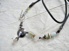 Load image into Gallery viewer, Libra zodiac necklace, custom birthstone jewelry, unique handmade astrological necklace