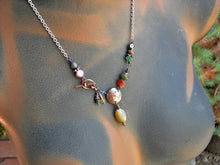 Load image into Gallery viewer, Virgo zodiac necklace, handmade copper & gemstone birthstone necklace, astrological jewelry