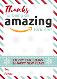 TEACHER APPRECIATION GIFT CARD HOLDERS | CHRISTMAS | 17 PRINTABLES PACK