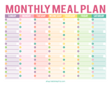 MONTHLY MEAL PLANNER PRINTABLE | BRANDABLE CONTENT