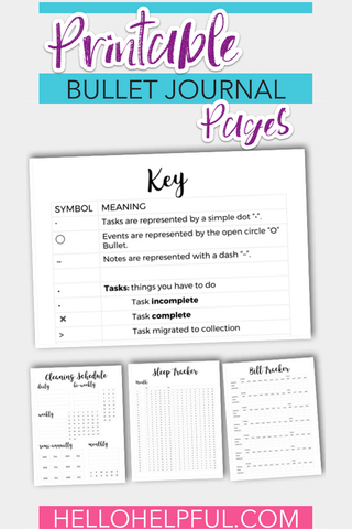 PRINTABLE BULLET JOURNAL PAGES | DONE-FOR-YOU PRINTABLE | PLR VERSION