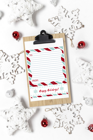 THANK YOU LETTER FOR TEACHER | CHRISTMAS | 3 FREE PRINTABLES