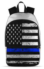 Front Panel Backpack-Thin Blue Line Apparel-RhinocerosX