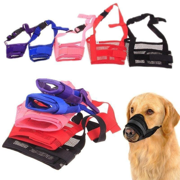 3 Pack Best Breathable Muzzles Adjustable & Mesh Small & Large Dogs - RhinocerosX
