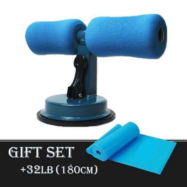Abdominal Core Muscle Equipment Training Support Sit-up Bar Blue Gift Set 2 - RhinocerosX