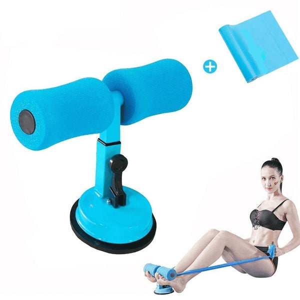 Abdominal Core Muscle Equipment Training Support Sit-up Bar Blue with Blue Band - RhinocerosX