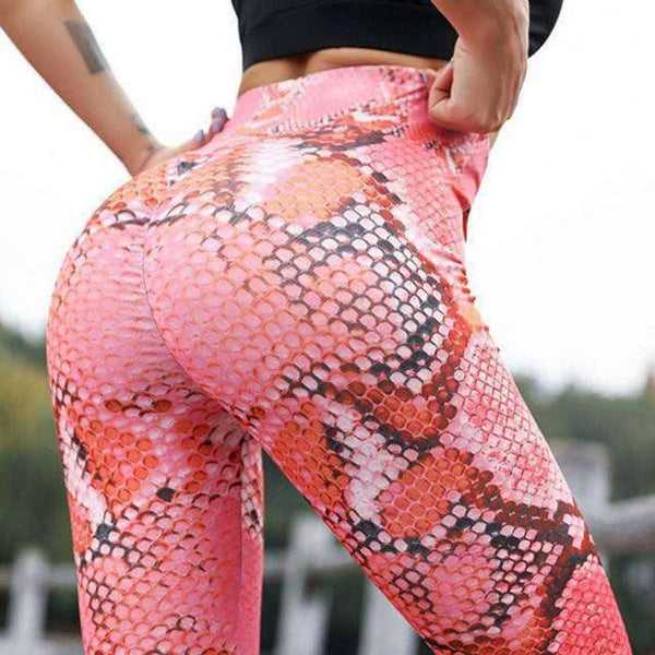 AWESOME!! Women's Mid Waist Elastic Sports Fitness Leggings!.-RhinocerosX