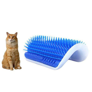 Cat Self Groomer Wall Brush with Catnip - RhinocerosX