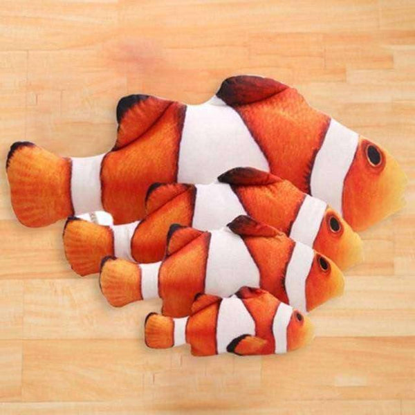 Cats Favorite Stuffed Fish Shape Padded Catnip Toy - RhinocerosX