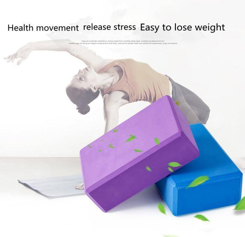 EVA Thick Yoga Blocks For Exercise, Sports Fitness & Stretching