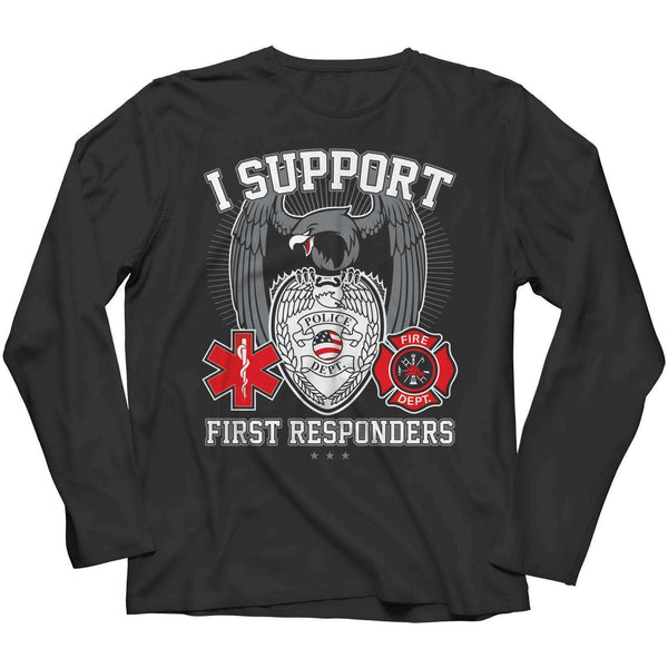 Be Proud Of - Thin Red Line Meaning - I Support First Responders Shirt - RhinocerosX
