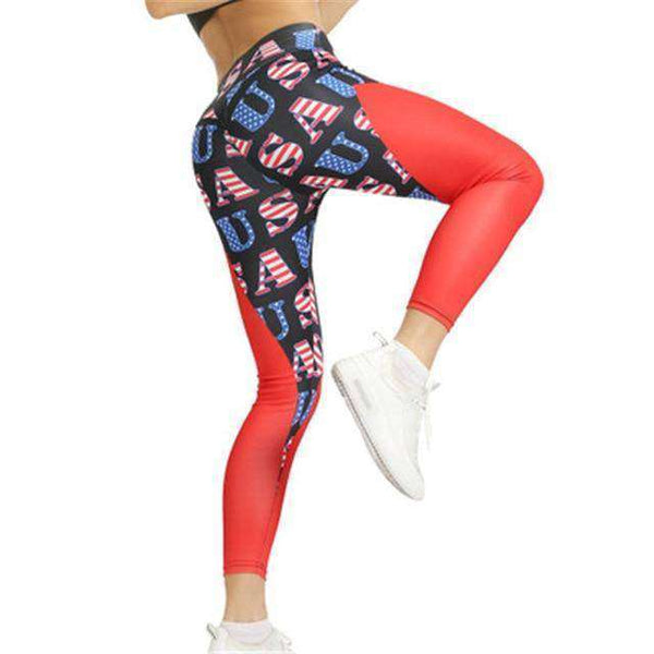 Polyester Pattern Print Ladies Fashion Yoga Pants - RhinocerosX