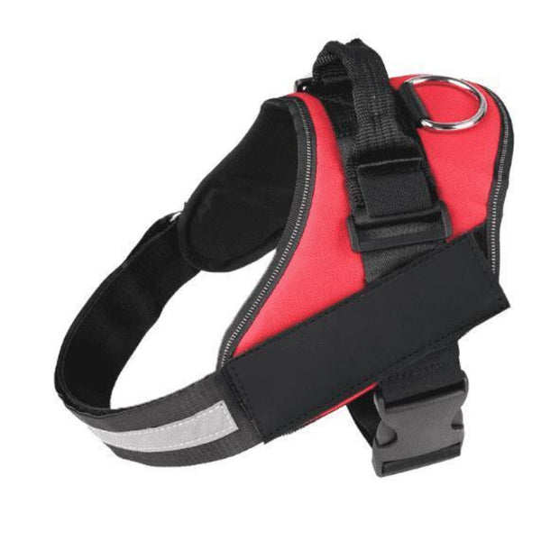 Reflective Collar Name Dog Harness - Red