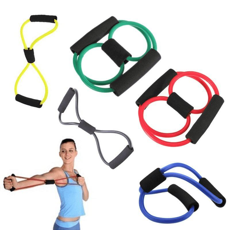 Rubber Tube Weight Expansion Back Control Fitness Rope