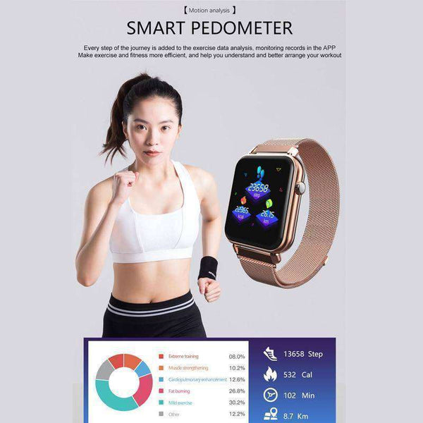 Smart Fitness Activity Tracker Pedometer Sleep & HR Monitor-Health & Fitness-RhinocerosX
