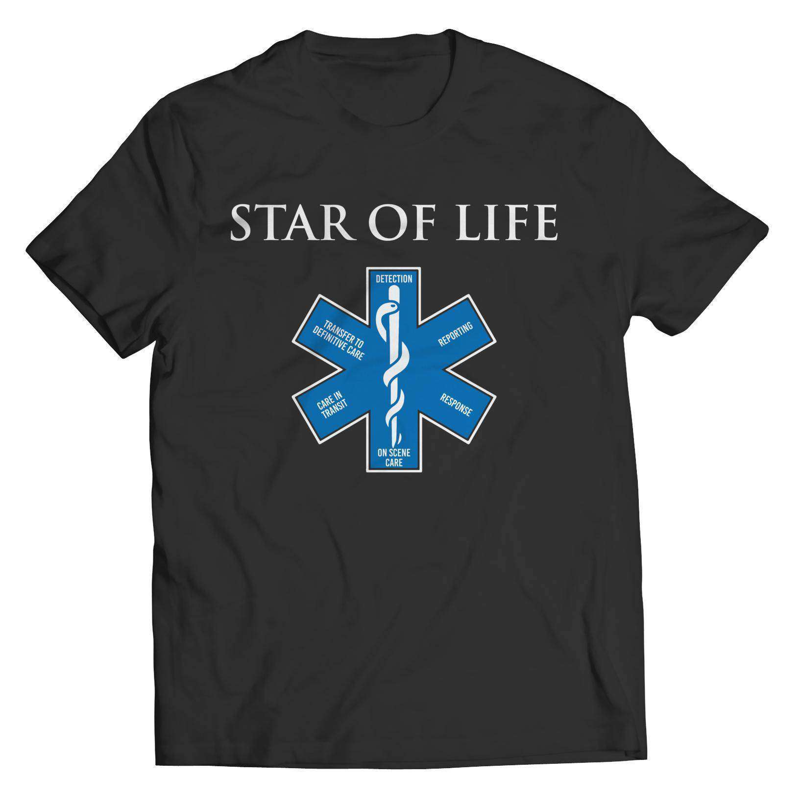 Star Of Life T Shirt | Symbol For Emergency Medical Services (EMS) - RhinocerosX