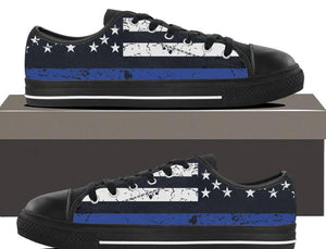 Thin Blue Line - Womens Lowtop-Thin Blue Line Apparel-RhinocerosX