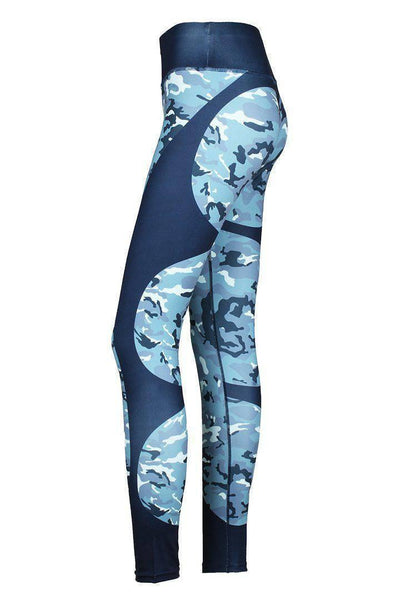 Women's High Waist Elastic Heartbeat Fitness Leggings - RhinocerosX