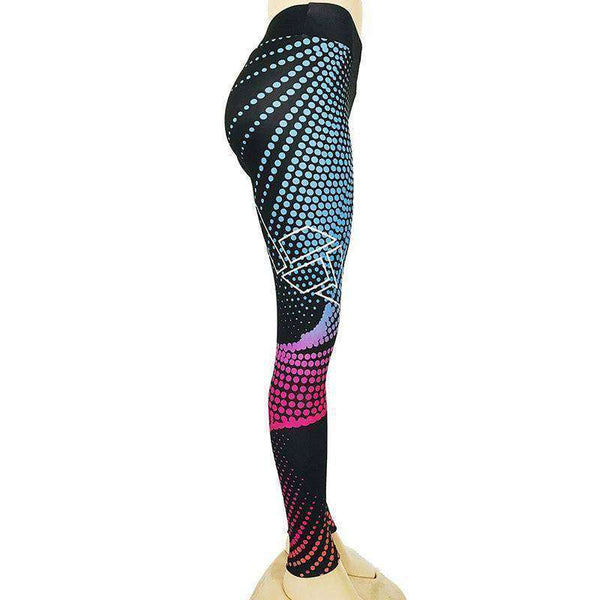 Women's Printed Sports Fitness Yoga Pants Athletic Clothes-RhinocerosX