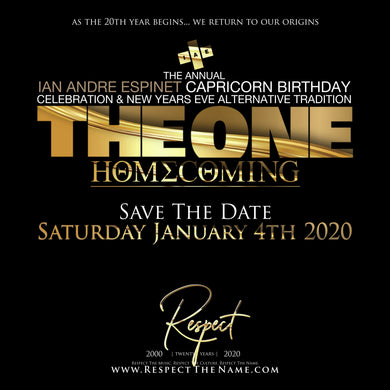 THE ONE | TWENTY - The Annual Ian Andre Espinet x The Annual Capricorn Celebration X New Years Alternative