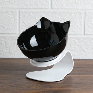 Cat Double Bowl  Dog Bowl Transparent Material Non-slip Food Bowl