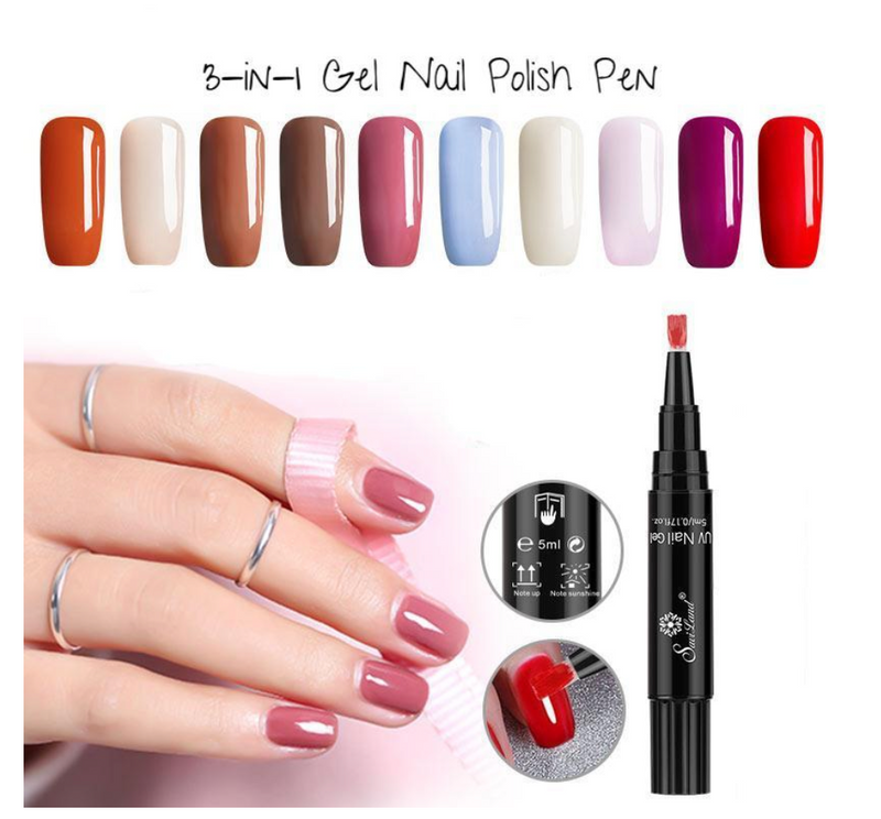 3 In 1 Gel Nail Polish Pen - made from high quality material for ...