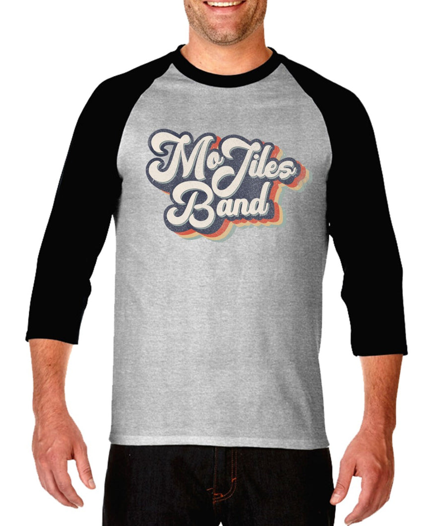 Grey and Black Throwback Raglan