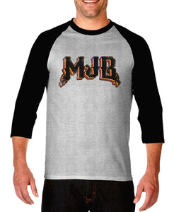 Grey and Black MJB Raglan