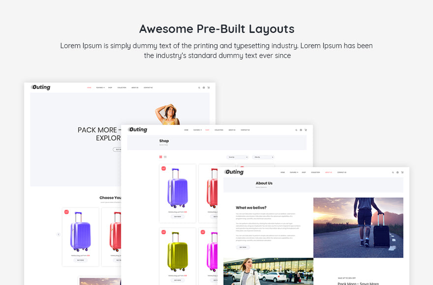 Outing Turbo Multi-Purpose Shopify Theme - Zarathemes