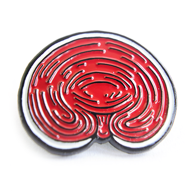 Organic Reishi Enamel Pin - Chthaeus Press