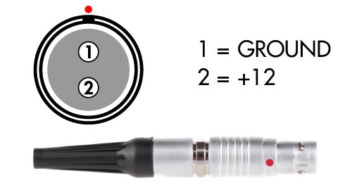 2pin lemo arri male power cable connector