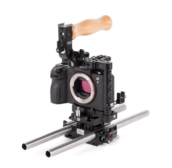 basic sony alpha series dslr camera support package & accessories from wooden camera