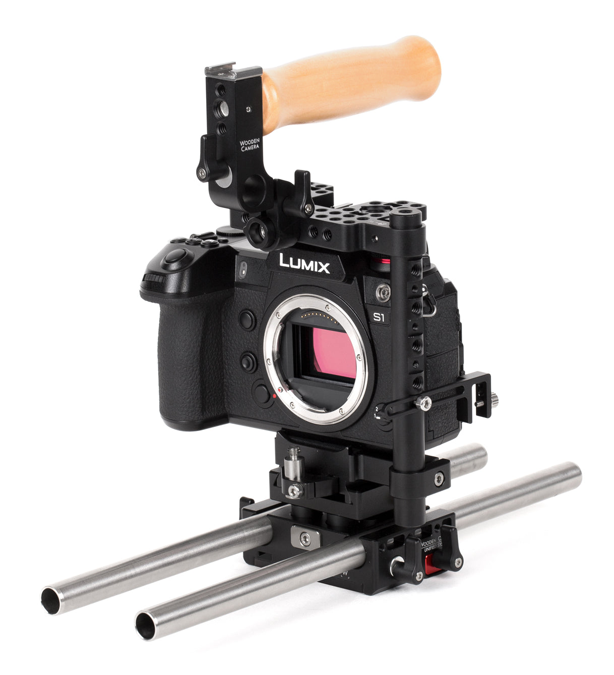 basic panasonic camera support package & accessories from wooden camera