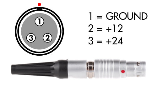 3pin lemo steadicam male power cable connector