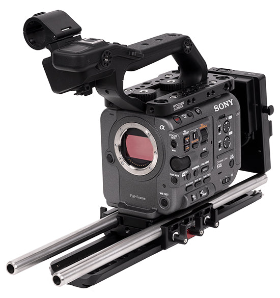professional v-mount sony fx6 camera support kit & accessories from wooden camera