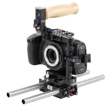 basic bmc pocket cinema camera 4k support package & accessories from wooden camera
