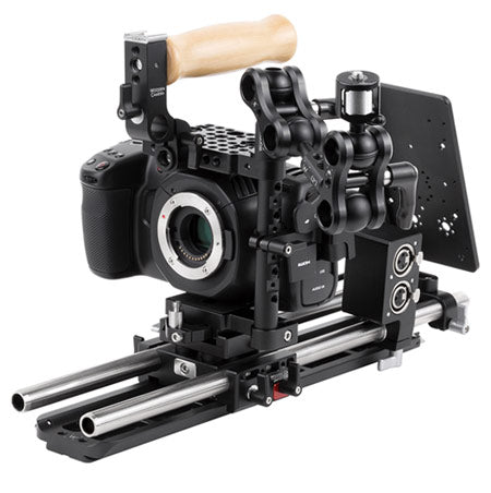 professional blackmagic pocket cinema camera 4k / 6K camera support kit & accessories from wooden camera