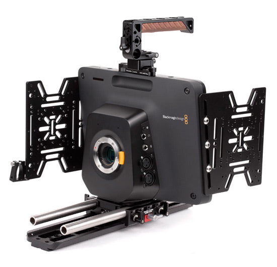 professional blackmagic studio camera support kit & accessories from wooden camera