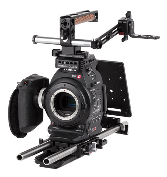 professional canon c100 & c100 mark ii camera accessory bundle & support pacakge