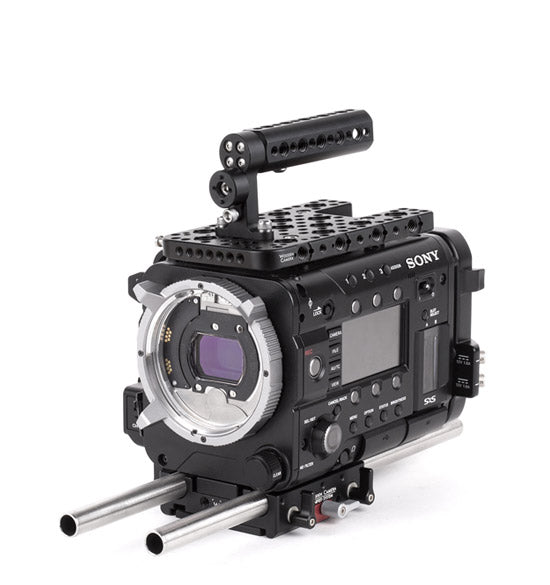 basic sony f55/f5 camera support package & accessories from wooden camera