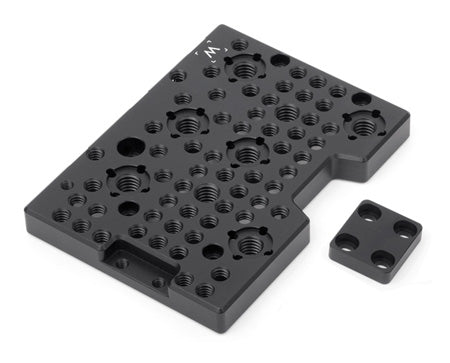 top mounting rear cheeseplate for the panasonic varicam 35 camera